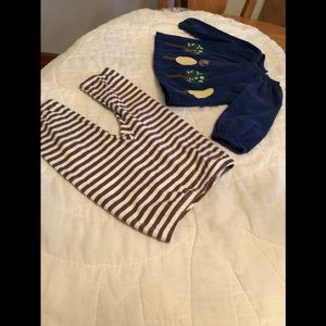 Baby Boden Two-Piece Outfit Corduroy Top